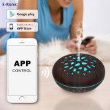 Controle de aplicativo de telefone WiFi doméstico inteligente Alexa Madeira difusor de Aromaterapia