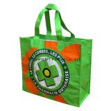 Sachet en plastique tissé par pp estampé, sac de promotion de sac tissé par pp de plastique