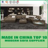 Sofa faisant le coin en cuir en bois de meubles modernes élégants