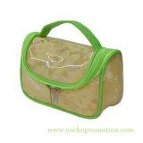 PVC transparent de grande capacité avec le sac cosmétique de maille pour Madame