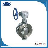 Válvula de borboleta substituível operada caixa de engrenagens do assento do ferro Ductile do sem-fim para o preço do cimento