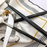 Jeux réglés de couverts de qualité de l'acier inoxydable 3-Piece de fourche de couteau de vaisselle plate lourde superbe de cuillère