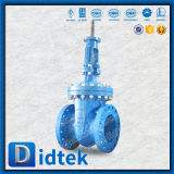 Válvula de puerta descubierta de Wcb del borde del vástago de Didtek para la refinería