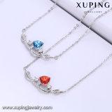 44011 Xuping простые формы из кристаллов Swarovski родий цвет позолоченный ожерелья Ювелирные изделия