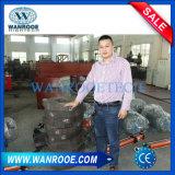 중국 공장 두 배 샤프트 슈레더를 재생하는 PP에 의하여 길쌈되는 부대 낭비 타이어