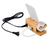 Hot Sale Base de recharge en bois socle iPhone Support de charge chargeur USB multifonction