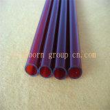 Sílica fundida vermelho escuro do tubo do tubo de quartzo