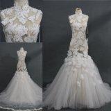 изготовленный на заказ<br/> оптовой Sheeer кружевной Лиф Русалки долго вечерние платье