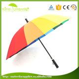 ガラス繊維のゴルフ傘のまっすぐなガラス繊維の傘の日曜日のまっすぐな傘