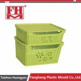 ふた型が付いているプラスチック注入の藤の貯蔵容器