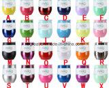 Commerce de gros en acier inoxydable Stemless 9oz or rose en verre de vin