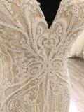 Vestito da cerimonia nuziale del V-Neckline di alta qualità di 2018 modi