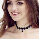 10PCS/Set de nieuwe Gotische die Halsbanden van de Nauwsluitende halsketting van het Leer van de Tatoegering voor Collier van de Juwelen van de Halsband van Dame Hollow uit Zwarte Kant Ketting worden geplaatst