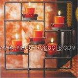 Vela votiva de vela de color rojo para la decoración