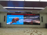 P5 che fa pubblicità alla parete dell'interno del video dello schermo di RGB Painel LED