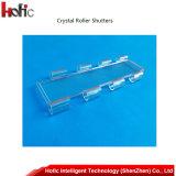 Porte commerciale avec les obturateurs en cristal