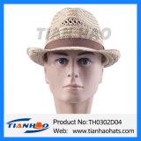 Nutural 잔디 위증자 중절모 Trilby 여름 모자