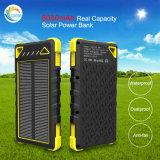 8000mAh verdaderos se doblan cargador solar de la batería de la potencia de los accesos del USB
