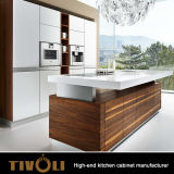 독일 Qaulity 고수준은 고층과 고급 주택 TV-0004를 위한 부엌 찬장을 주문 설계한다