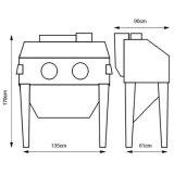 洗浄する部品のための電気Sandblaster商業水サンドブラスト機械