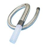 Caoutchouc de silicone résistant aux températures élevées sur le fil en acier flexible renforcé