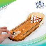 Le mini jeu de bureau en bois de bowling badine les jouets développementaux de nouveauté de Chambre de bébé de décor de cadeau de jouet d'enfants