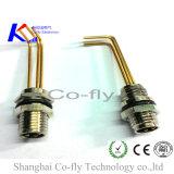 3 Pin 남성 정각 M8 PCB 위원회 마운트 방수벽 연결관