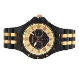 Caliente la venta de reloj de madera con 100% Natural artesanal de madera de ébano de arce de relojes de cuarzo de moda para hombres