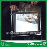 Da paisagem de cristal do frame de retrato do indicador caixa leve de suspensão do diodo emissor de luz para o mediador imobiliário