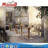 Conçu à l'extérieur moderne en bois de teck Hotsale Table à manger ensemble dans le Moyen-Orient et de Dubaï