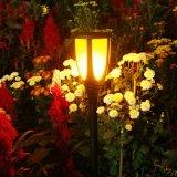 Las llamas de la energía solar iluminación horizontal resistente al agua de la luz de linterna