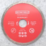 Diamond continua de Rim para humedad de hoja de sierra circular de corte de hojas de sierra de diamante