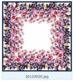 Kundenspezifischer kleiner Blumenform-Seide-Schal