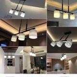 Moderne Drei-Vorangegangene Glaslampen-moderne geschmälerte Eisen-Gaststätte-Lampe