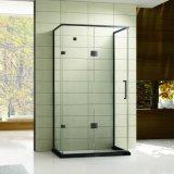 1つのヒンジのドアが付いている黒いステンレス鋼のシャワー室