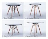 現代簡単な円形のブナの森の足のダイニングテーブル