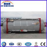 Aço carbono 20FT Corrusive Tanque de Líquidos químicos contêiner para Semi-Trailer