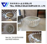 Arte superficial sólido de acrílico que enciende la mesa de centro de 1000m m para la venta