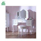 De witte Opmaker van het Meubilair van de Slaapkamer van de Stijl van de Kleur Moderne met Spiegel