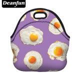 3Dはネオプレンの昼食袋を印刷したピクニックのために絶縁されるジッパーとの卵パターン方法が50811を防水する