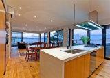 Casa con marco de acero del chalet de la alta calidad del calibrador prefabricado de lujo de la luz hecha en China