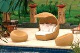 Напольный стул салона пляжа Sun фаэтона ротанга
