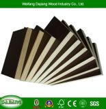 Le peuplier contreplaqué Commercial avec noir/brun Film confrontés pour la construction de cadre