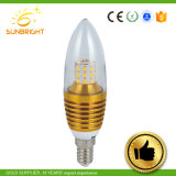 3W 5W E14のガラス形LEDの蝋燭の球根