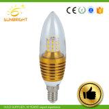 3W 5W E14 стеклянная форма светодиодная свеча лампу