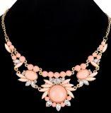 L Glittering di lusso collana di diamante del fiore del Rhinestone