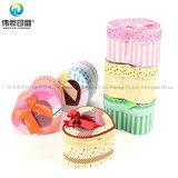 Изготовленный на заказ коробка подарка печатание шоколада конфеты формы сердца с PVC на Новый Год