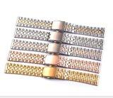 Продажа горячей воды из нержавеющей стали 5 шва Посмотреть ленту ремня 10 12 14 16 18 20мм смотреть Band высокого класса женщин классический браслет с застежкой фальцовки
