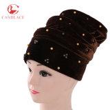 Enveloppe de luxe de tête de chapeau de Hijab de turban de velours de femmes neufs