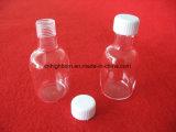 Botella reactiva vendedora caliente del cuarzo transparente de la pureza con los tapones de tuerca